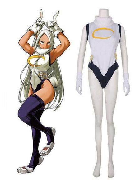 Milanoo Boku No Hero Academia Cosplay Tsukino Mito Ivory Polyester Choker Overcoat Cosplay Costumes