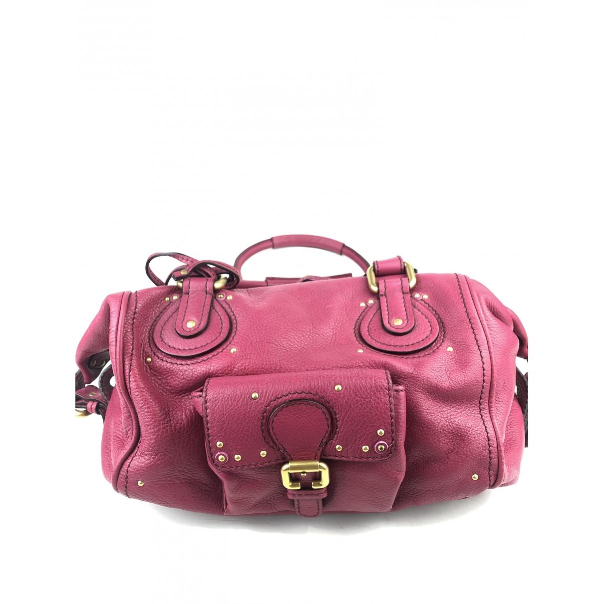 Chloe Paddington Handtasche in  Rosa Leder