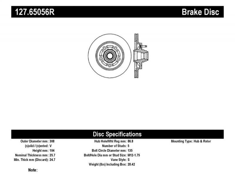 StopTech 127.65056R Sport Drilled/Slotted Brake Rotor; Front Right Ford F-150 Front Right 1997-1999