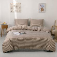 Striped Pattern Bedding Set Without Filler