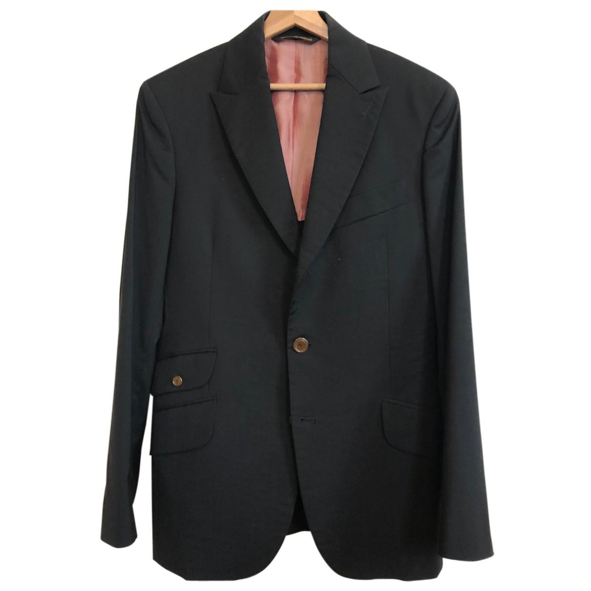 Vivienne Westwood N Black Wool Suits for Men 50 IT