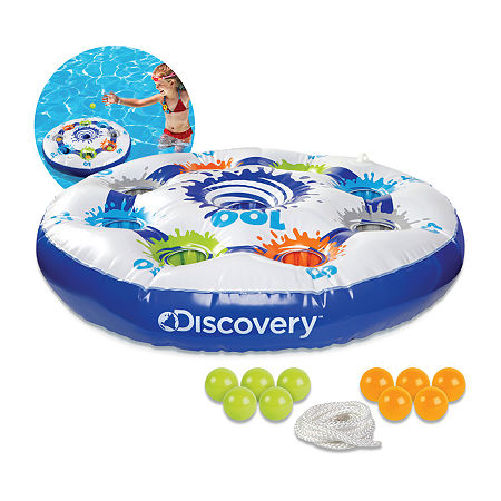 Discovery Kids Inflatable Target Toss Floating Pool Game, One Size , Multiple Colors