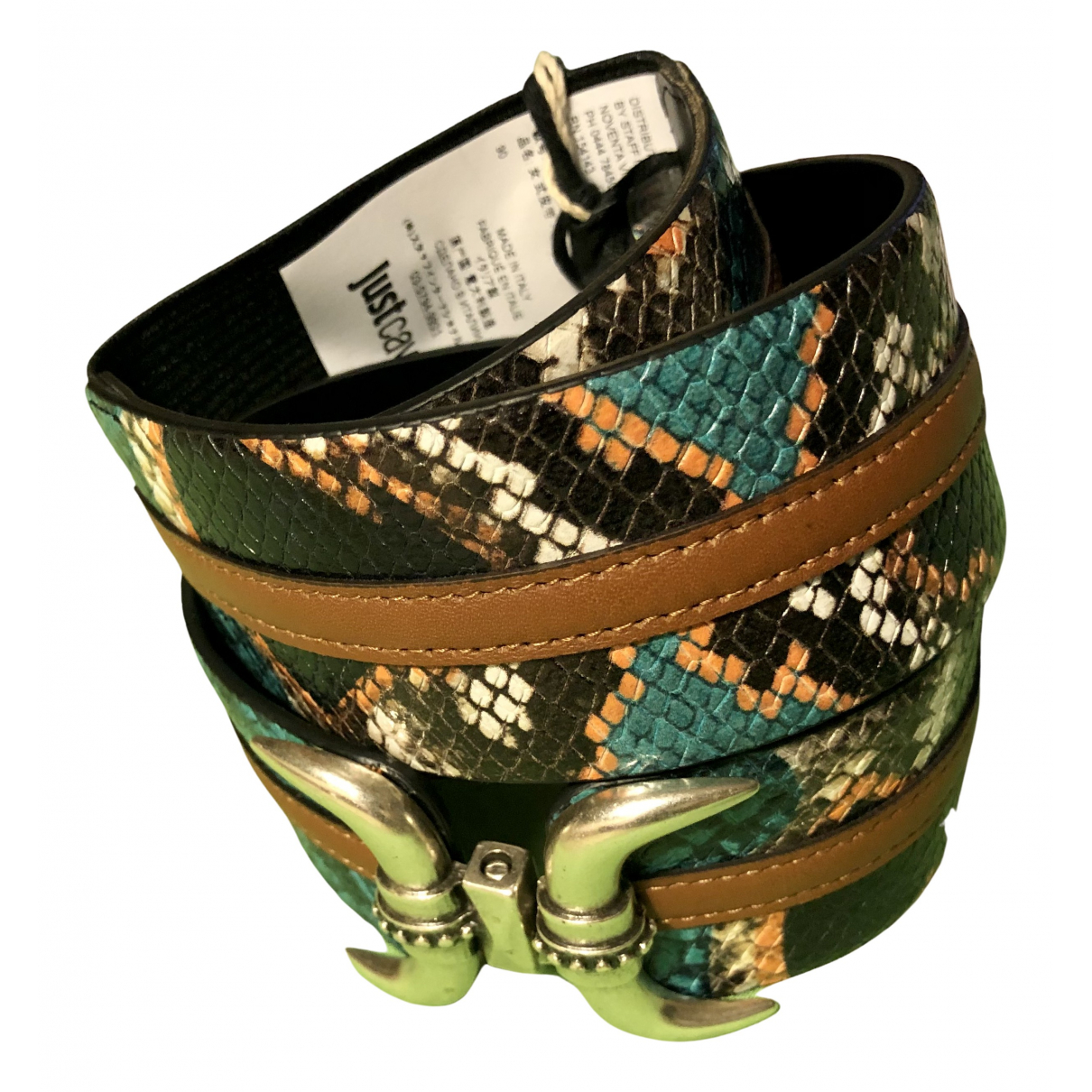 Just Cavalli N Leather belt for Women 90 cm