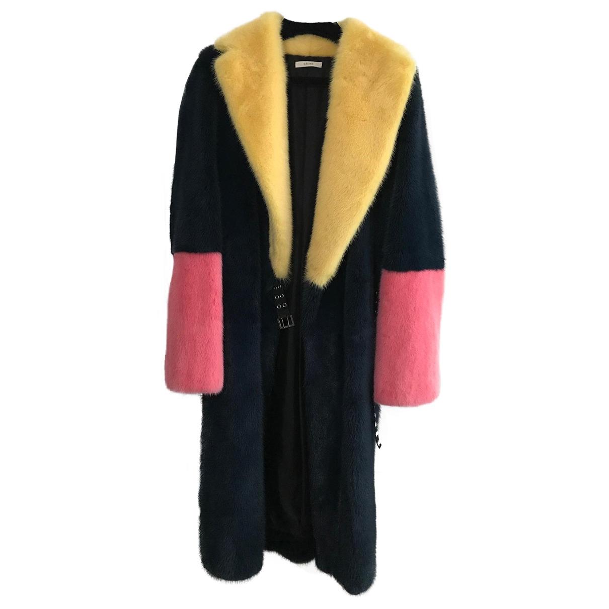 Celine \N Multicolour Mink coat for Women 36 FR