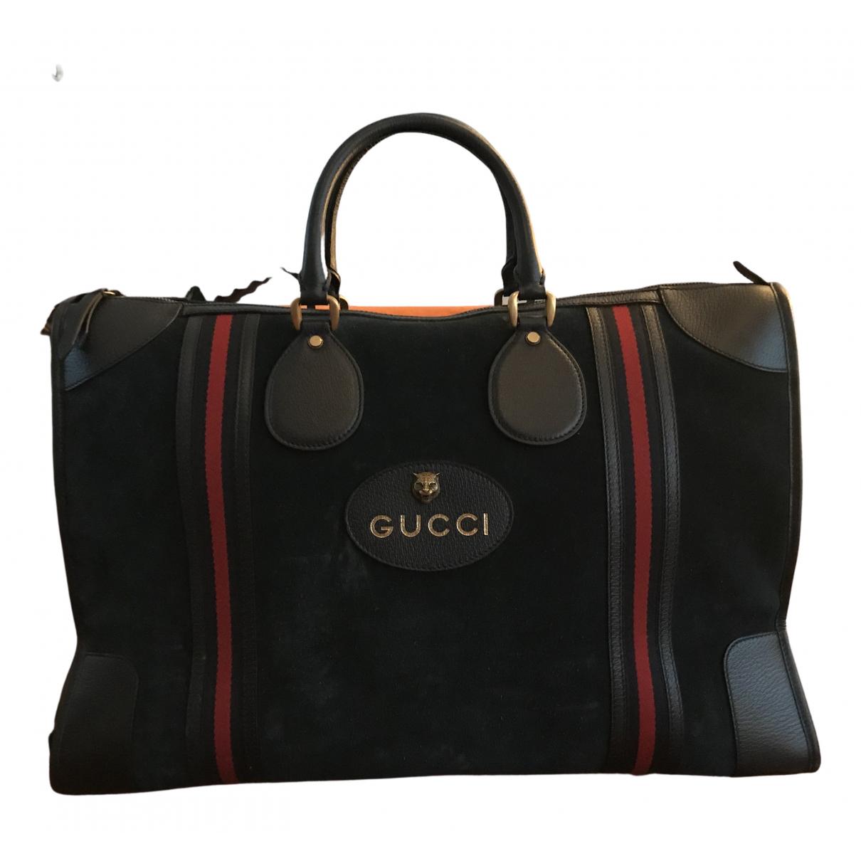 Gucci N Blue Suede Travel bag for Women N