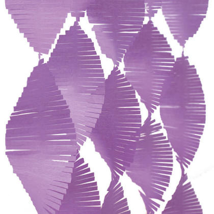 Party Streamers Tissue Paper Fringe Garland 9 ft - Pretty Purple