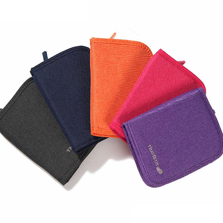 Oxford Cloth Card Holder Minimalist Short Travel Ticket Cash Wallet Card Separate Passport Pack