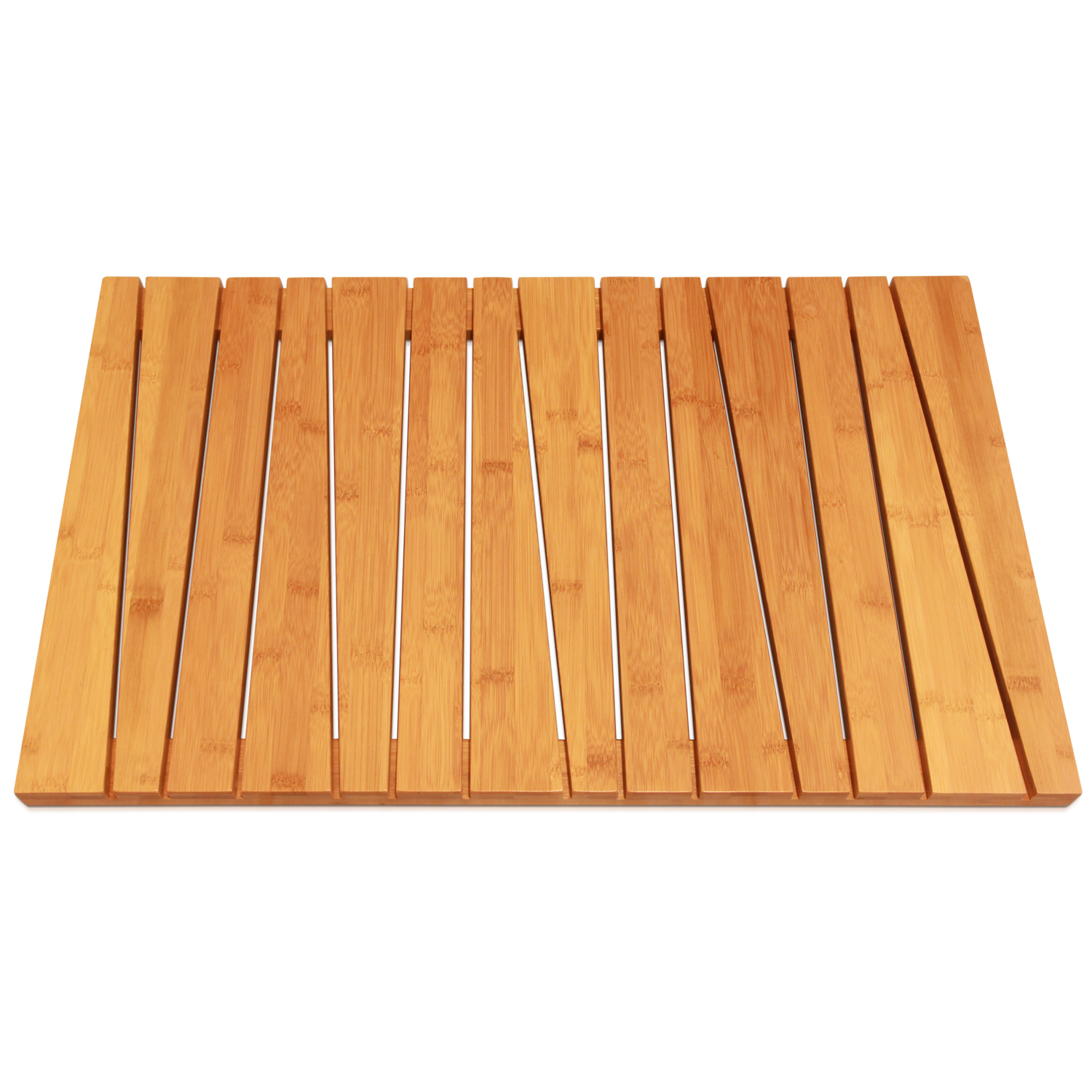 100% Natural Bamboo Deluxe Shower Floor and Bath Mat, Skid Resistant, Heavy-Duty