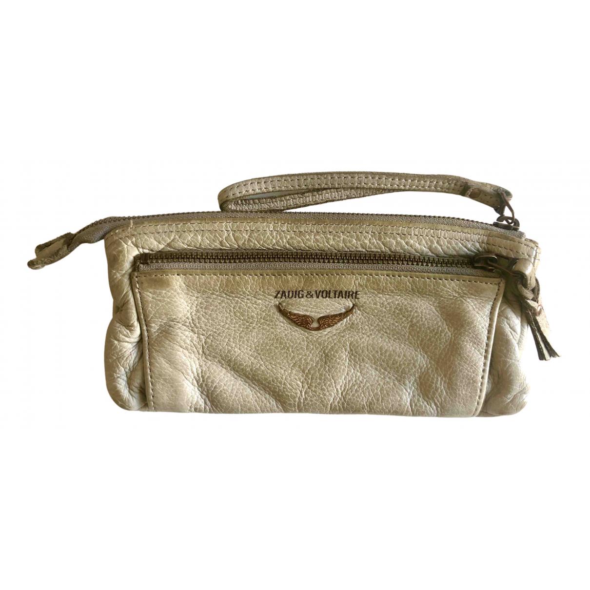 Zadig & Voltaire Rock Beige Leather Clutch bag for Women \N