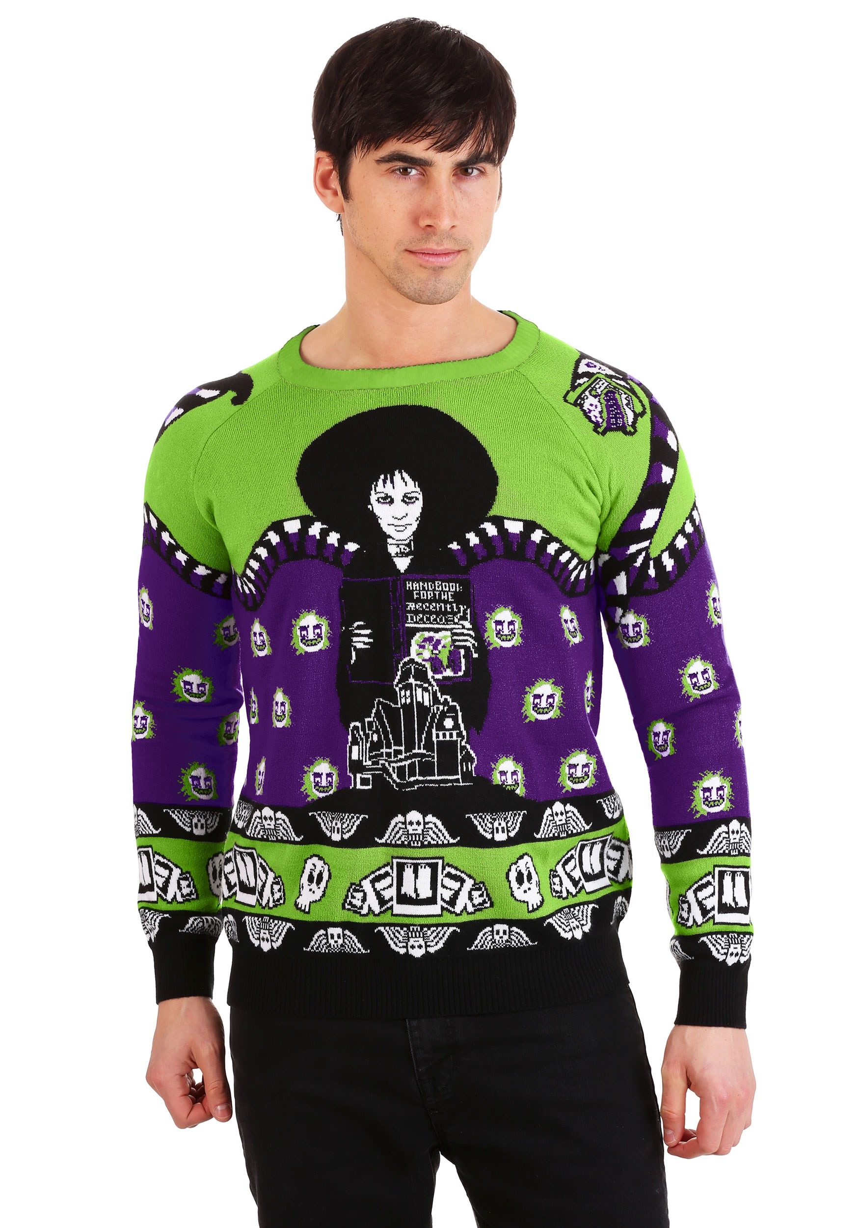 Beetlejuice Lydia Deetz Ugly Halloween Sweater for Adults