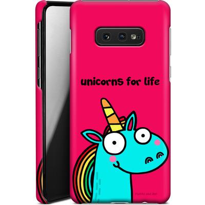 Samsung Galaxy S10e Smartphone Huelle - Unicorns for Life von Flossy and Jim