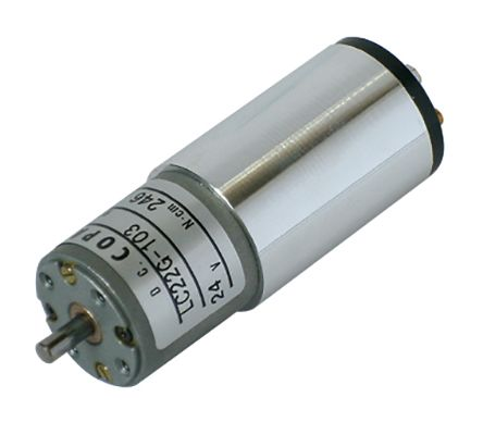 Copal Electronics , 24 V dc, 14.7 mNm DC Geared Motor, Output Speed 60 rpm