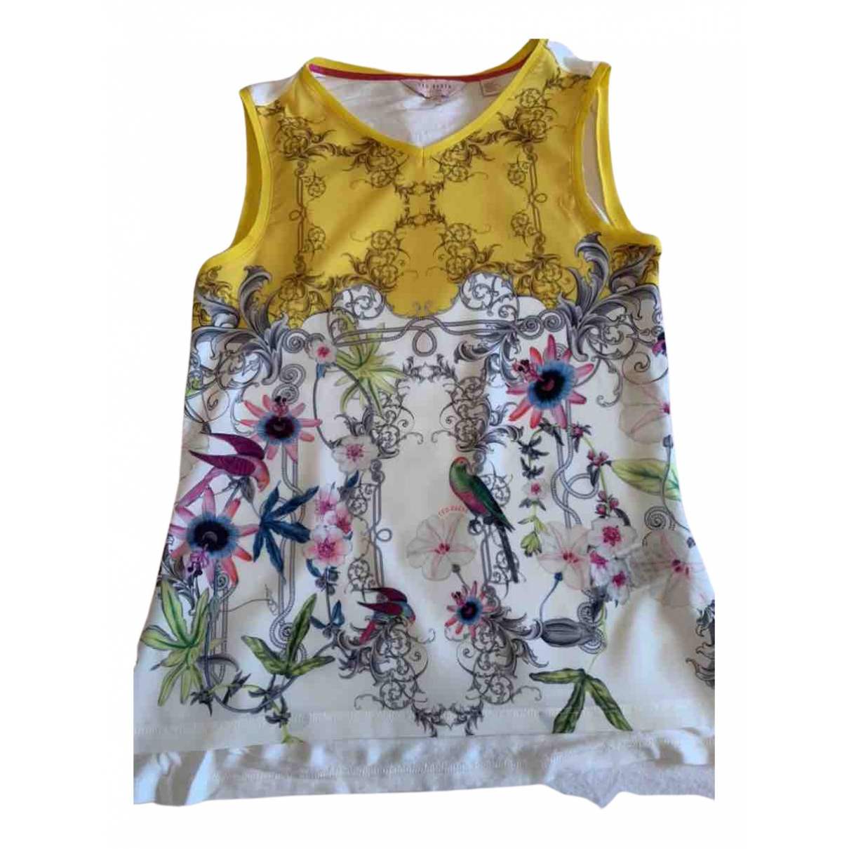 Ted Baker N Yellow  top for Women 8 UK