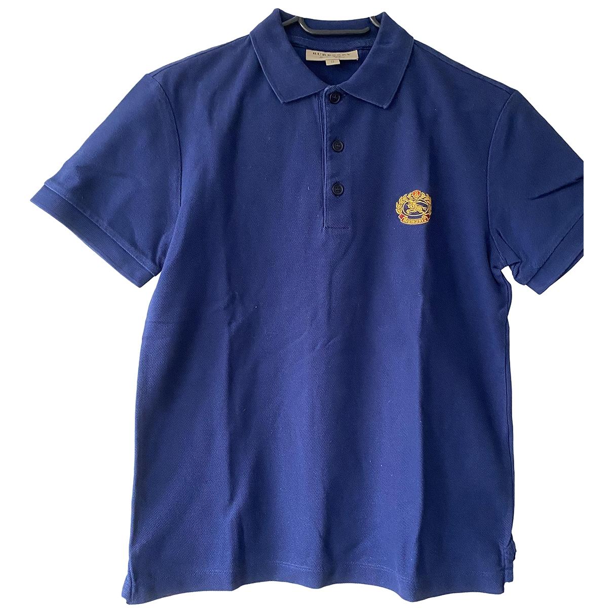 Burberry - Polos   pour homme en coton - bleu