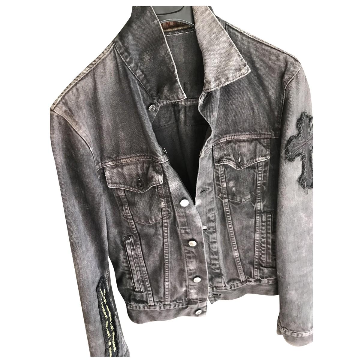 John Richmond \N Anthracite Denim - Jeans jacket  for Men 48 IT