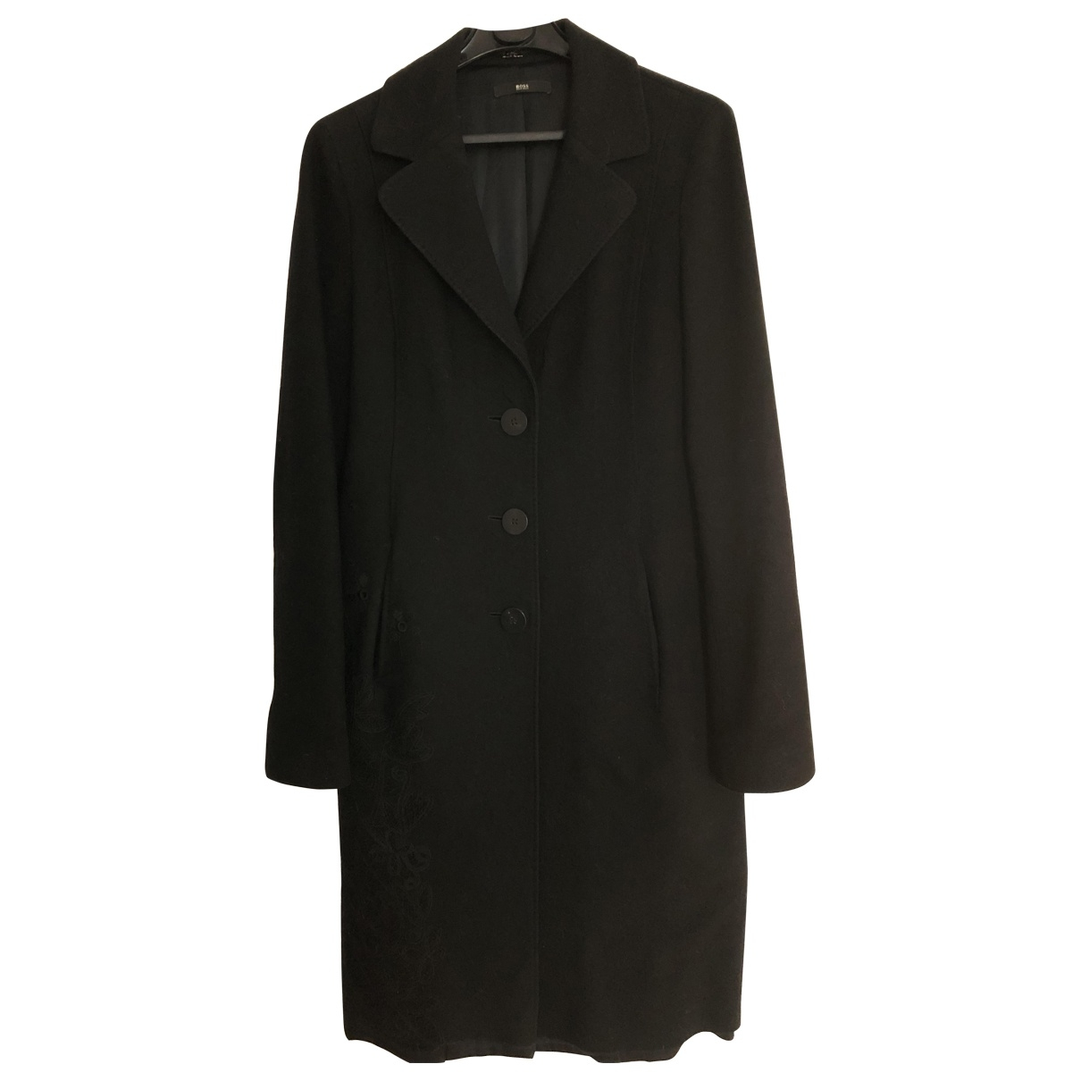 Boss \N Black Wool coat for Women S International