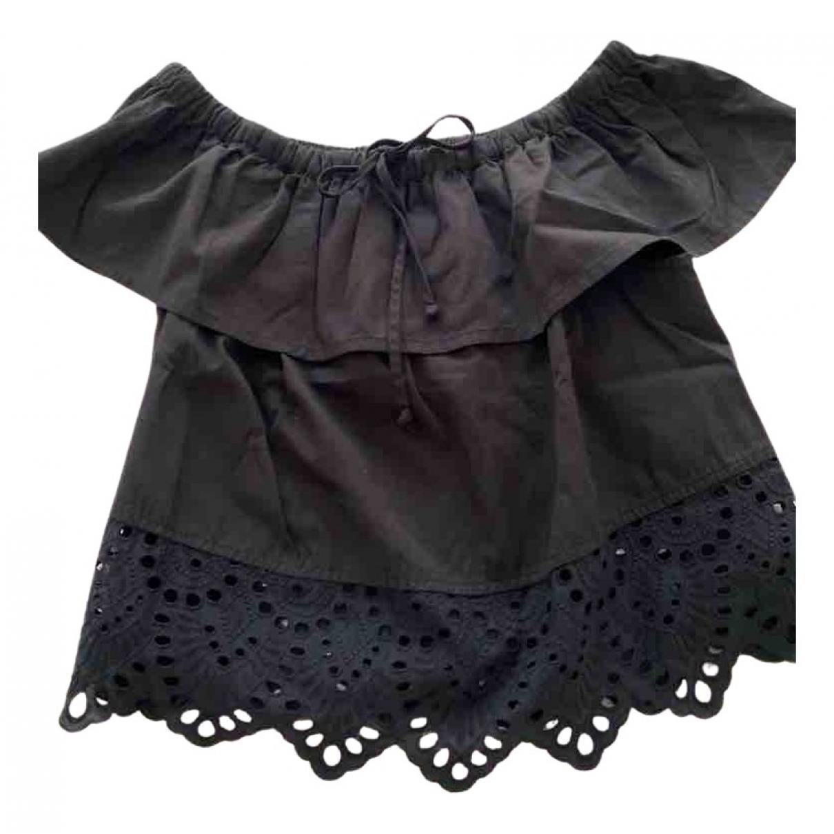 Madewell - Top   pour femme en coton - noir