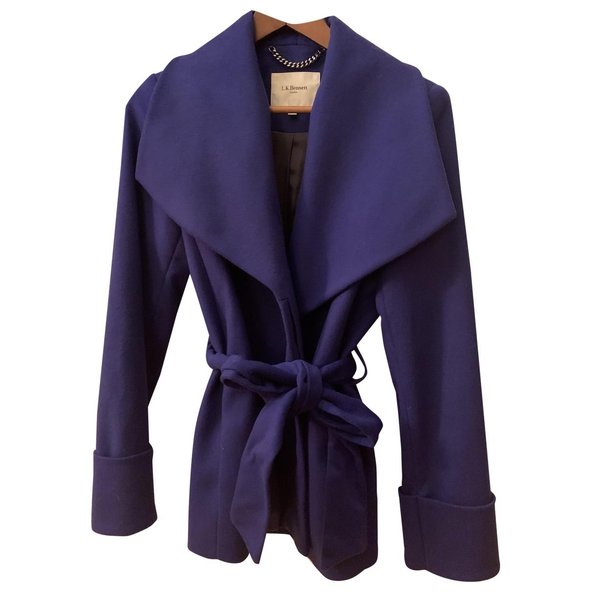 Lk Bennett \N Blue Wool coat for Women 40 FR
