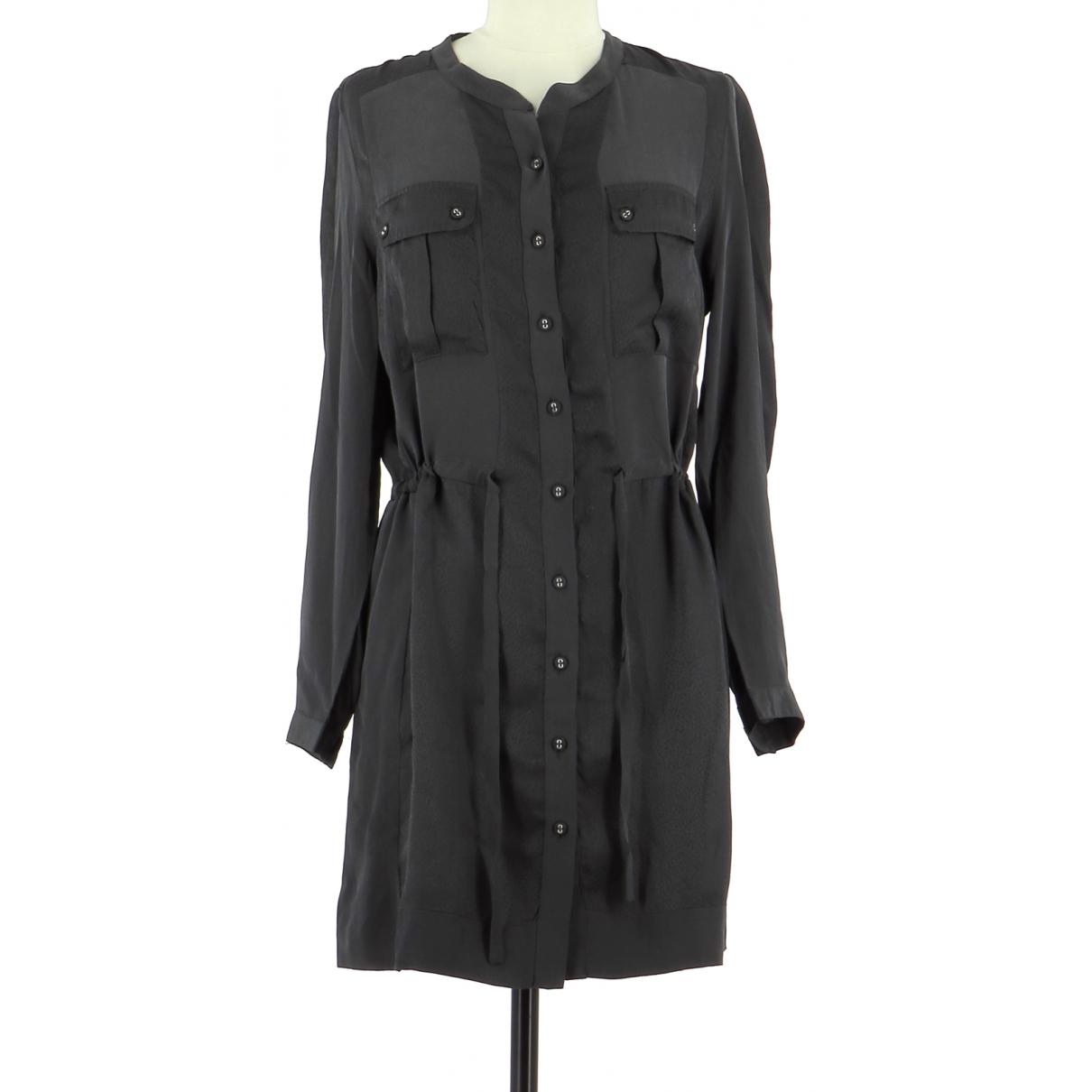 Gerard Darel \N Grey Silk dress for Women 40 FR