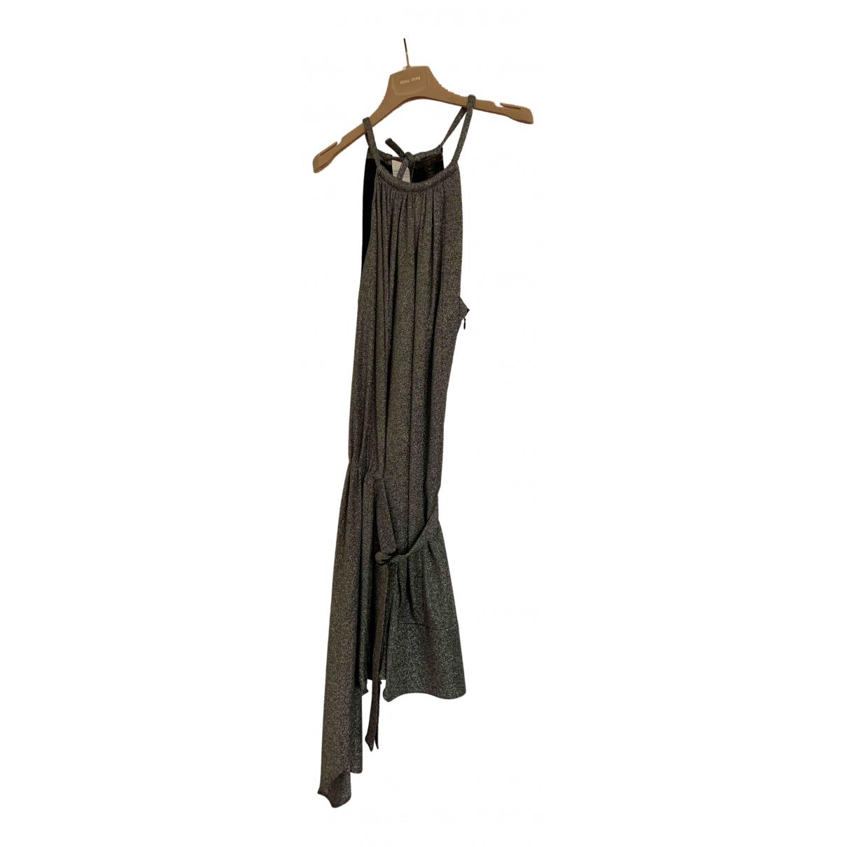 Louis Vuitton \N Kleid in  Silber Synthetik