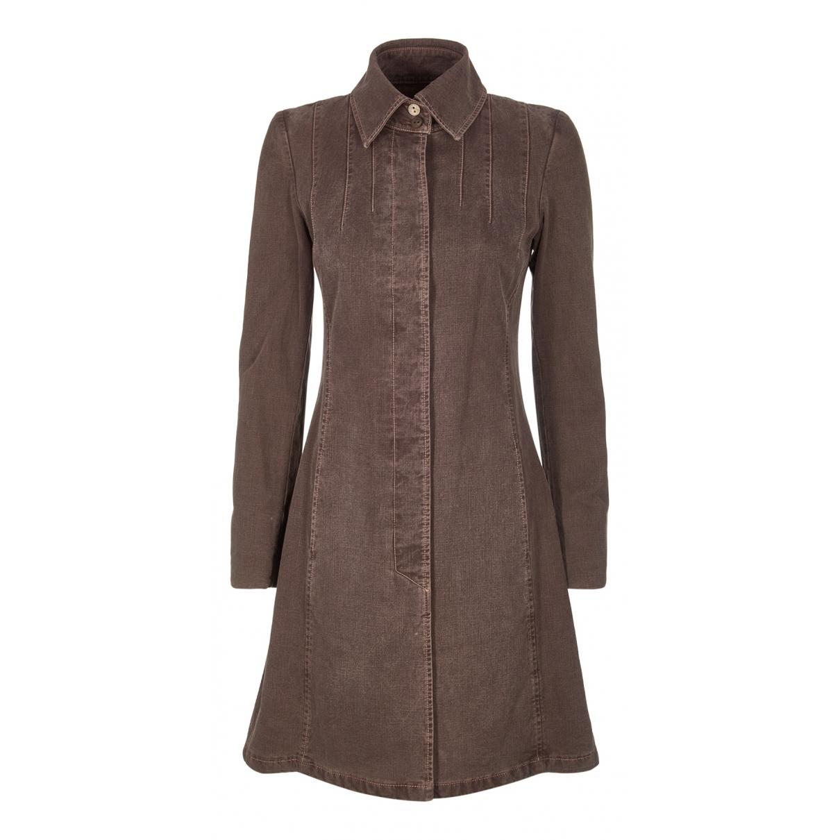 Chanel \N Kleid in  Braun Baumwolle
