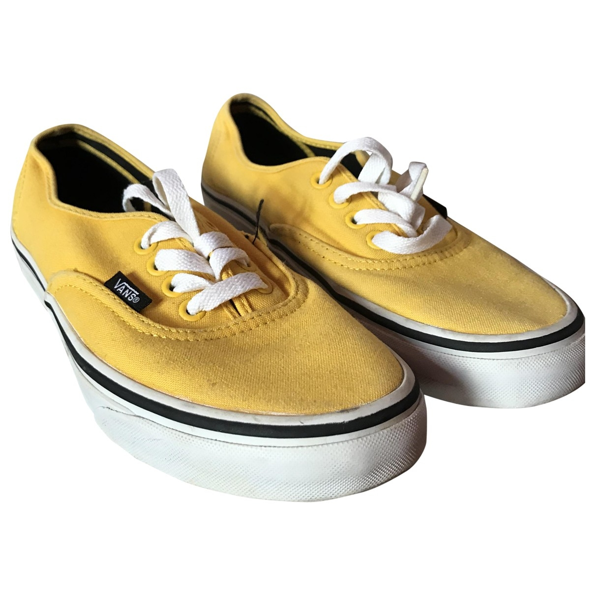 Vans \N Yellow Cloth Trainers for Women 6.5 US