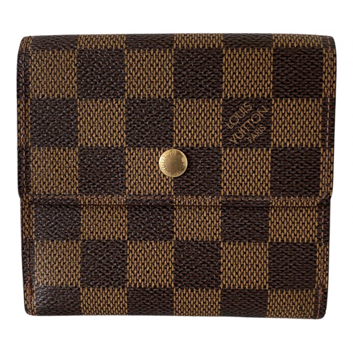 Louis Vuitton Alexandra Brown Cloth wallet for Women N