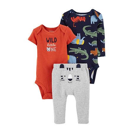 Carter's Baby Boys 3-pc. Clothing Set, Newborn , Orange