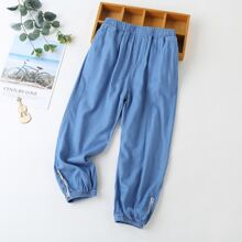 Jeans mit Buchstaben Muster