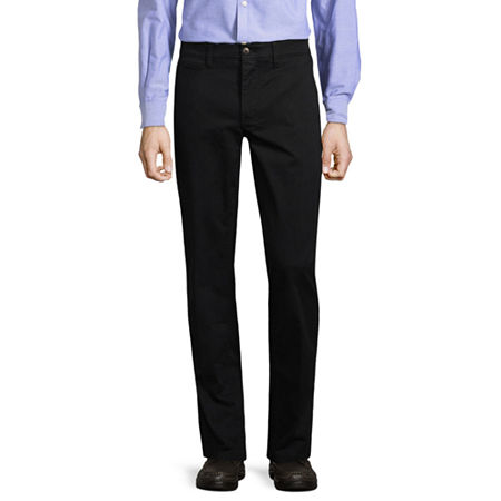 St. John's Bay Mens Slim Fit, 38 32, Black