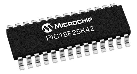 Microchip PIC18F25K42-I/SO, 8bit 8 bit CPU Microcontroller, PIC18, 64MHz, 32 kB Flash, 28-Pin SOIC (5)