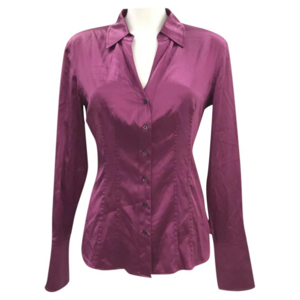 Hugo Boss - Top   pour femme en soie - violet