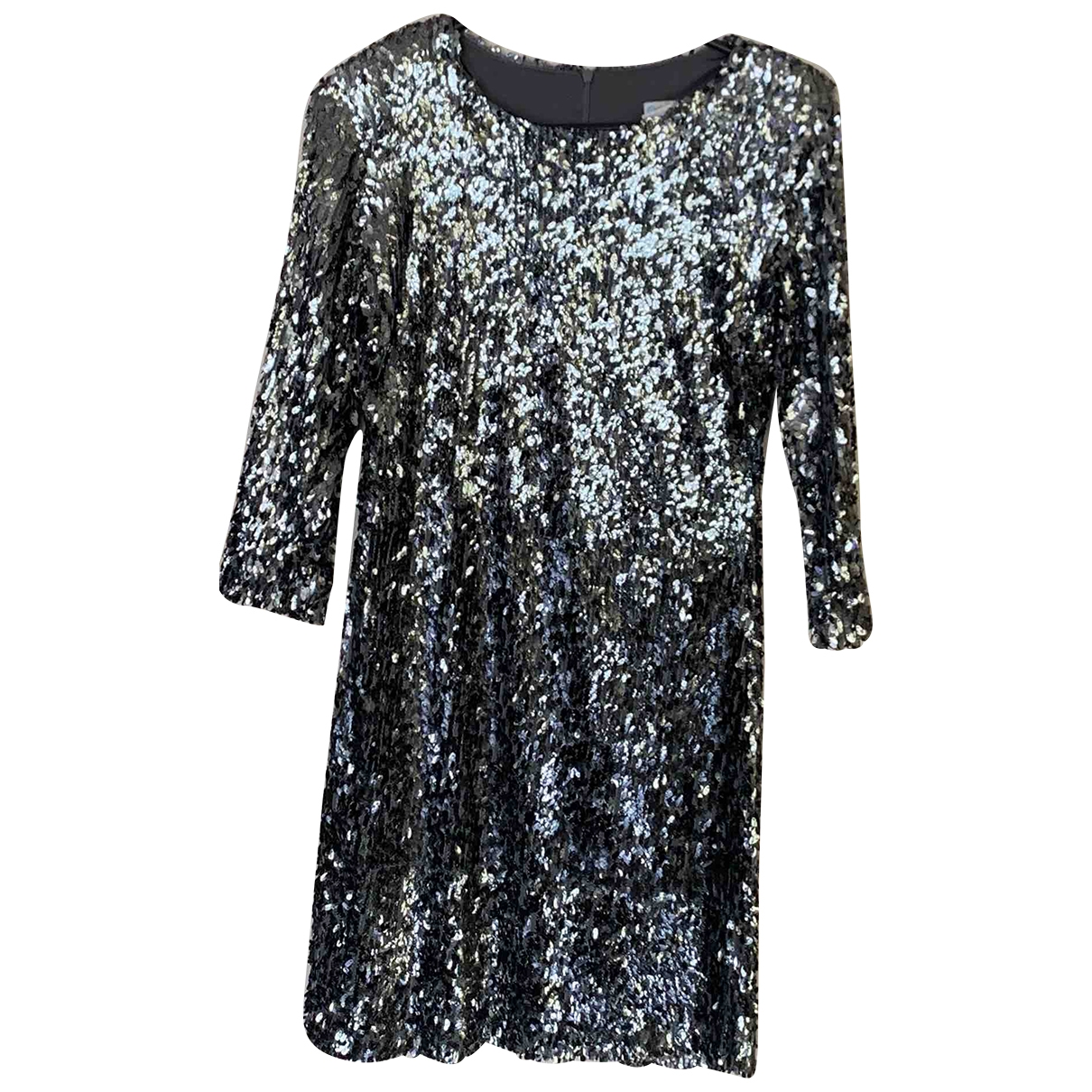 Non Signe / Unsigned \N Kleid in  Silber Polyester