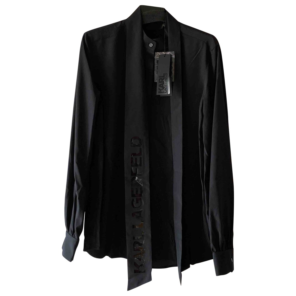 Karl \N Top in  Schwarz Polyester