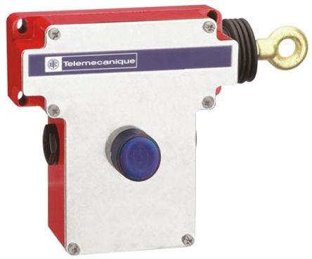 Telemecanique Sensors Rope Pull Switch, RH, B/Reset, w/ Light