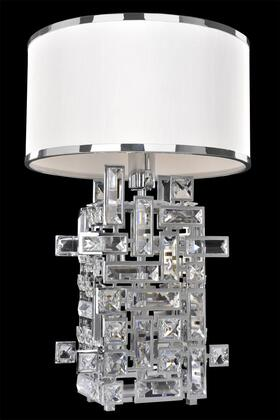 Vermeer 027600-038-FR001 1-Light Table Lamp in Brushed Champagne Gold Finish with Firenze Clear