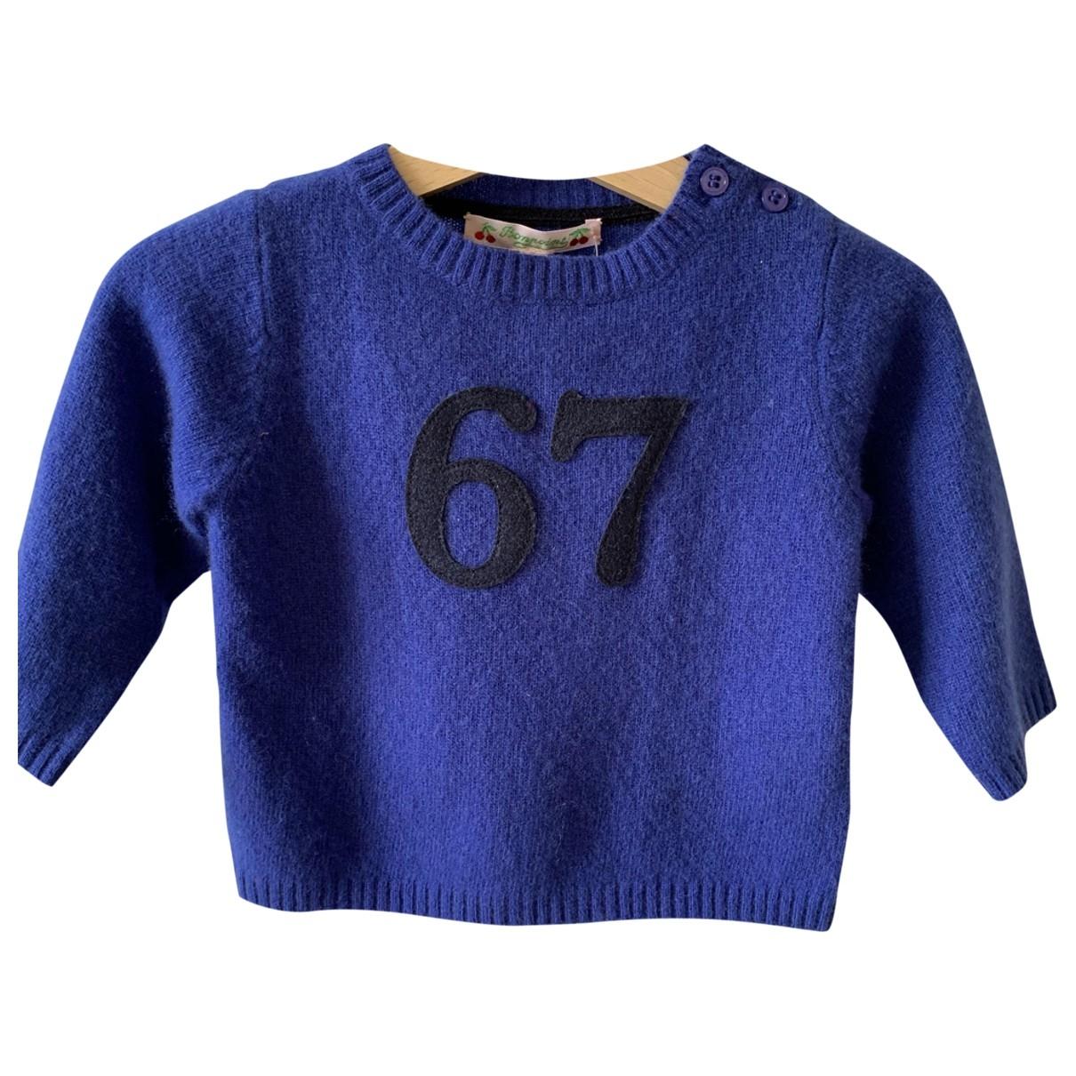 Bonpoint - Pull   pour enfant en laine - bleu