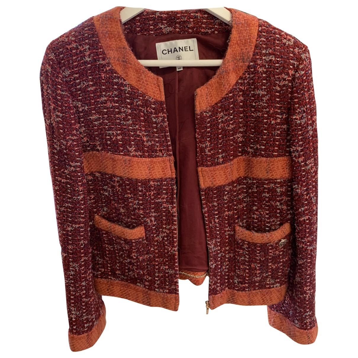 Chanel \N Jacke in  Orange Wolle