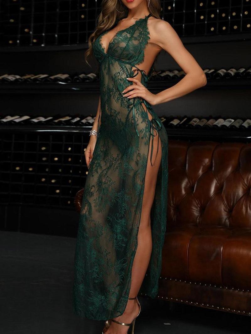 Ericdress Ankle-Length Split V-Neck A-Line Sexy Dress
