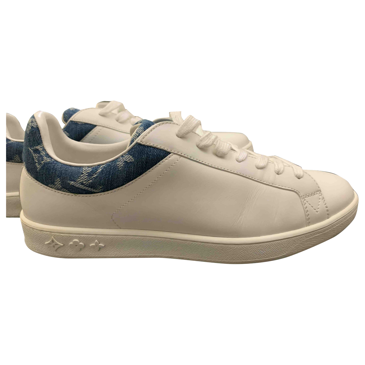 Louis Vuitton Luxembourg White Leather Trainers for Men 6 UK