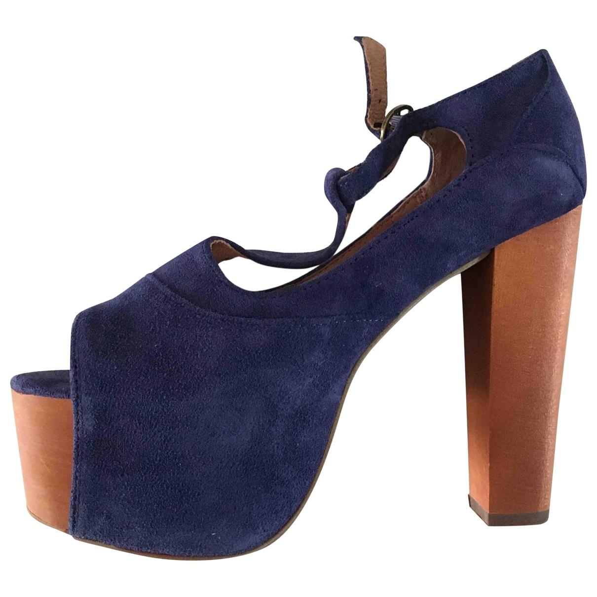 Jeffrey Campbell - Escarpins   pour femme en suede - bleu