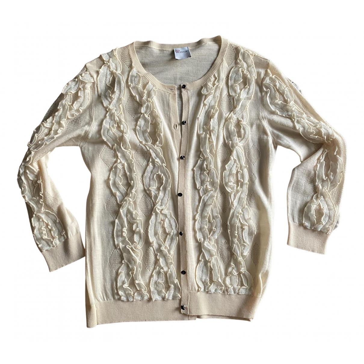 Red Valentino Garavani - Pull   pour femme en laine - beige