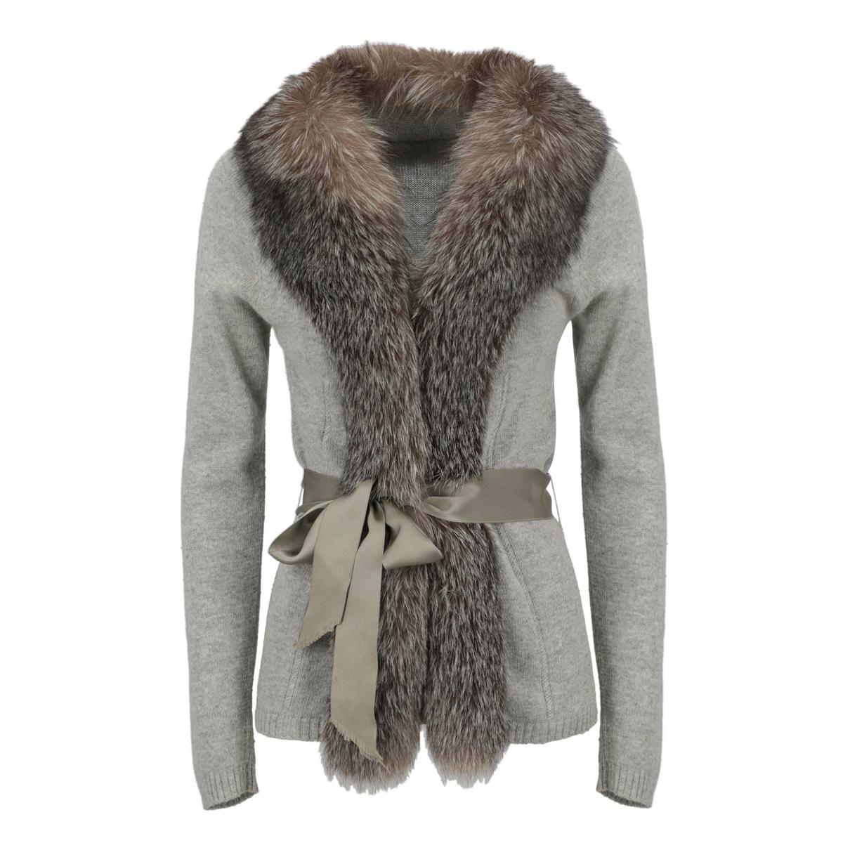 Blumarine N Grey Knitwear for Women 44 IT