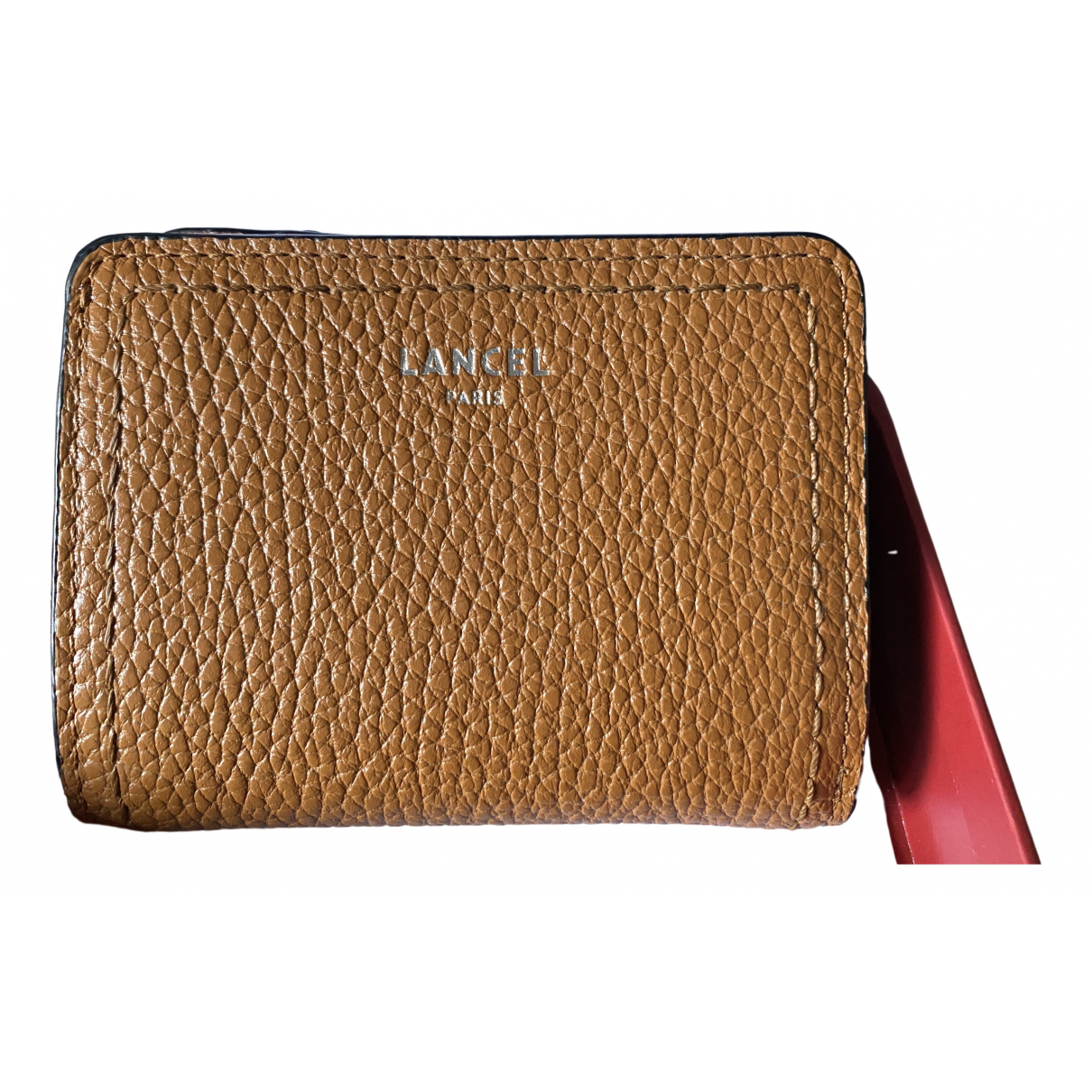 Lancel \N Camel Leather Purses, wallet & cases for Women \N
