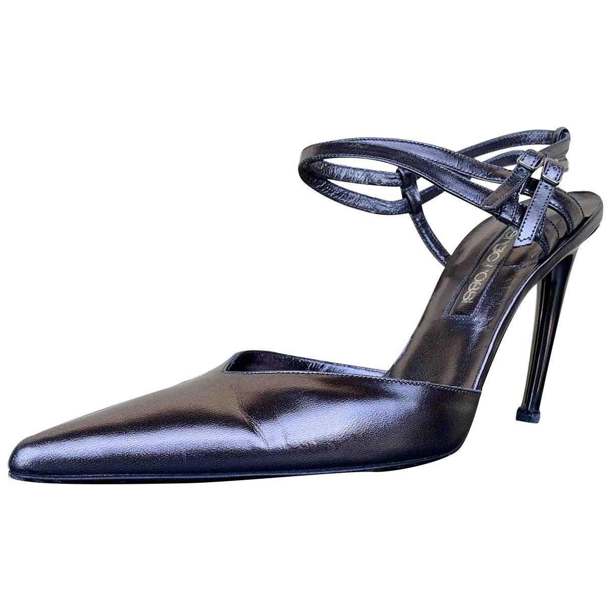 Sergio Rossi \N Leather Heels for Women 37.5 EU
