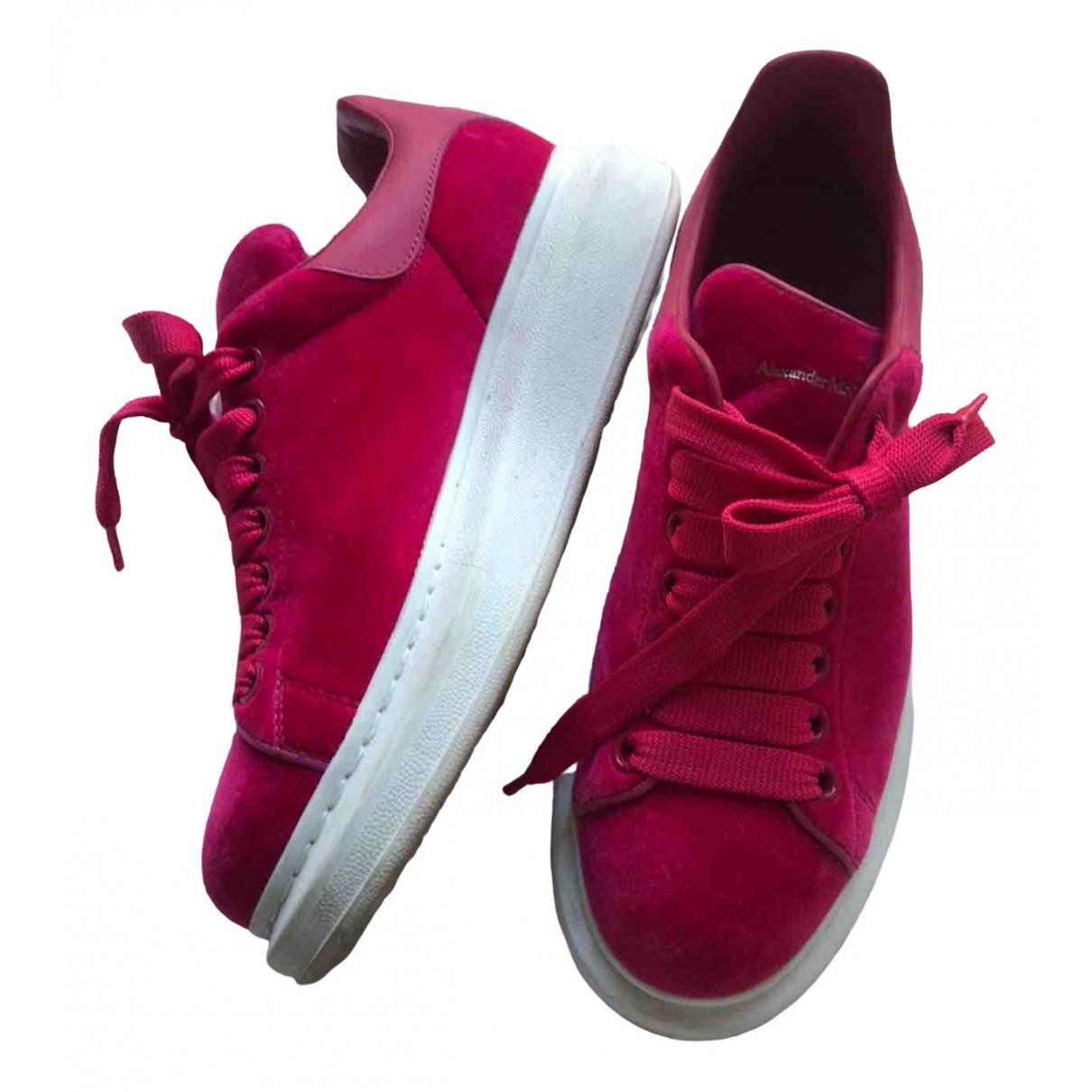 Alexander Mcqueen - Baskets Oversize pour femme en velours - rose