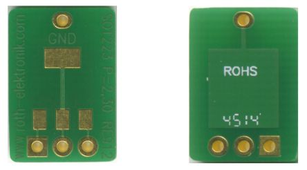 Roth Elektronik RE912, Double Sided Extender Board Adapter Adapter With Adaption Circuit Board FR4 15.55 x 10.8 x 1.5mm