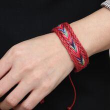 Gewebtes Armband mit Farbblock