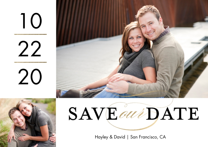 Save the Date 5x7 Cards, Premium Cardstock 120lb with Rounded Corners, Card & Stationery -Save our Date Simple by Tumbalina