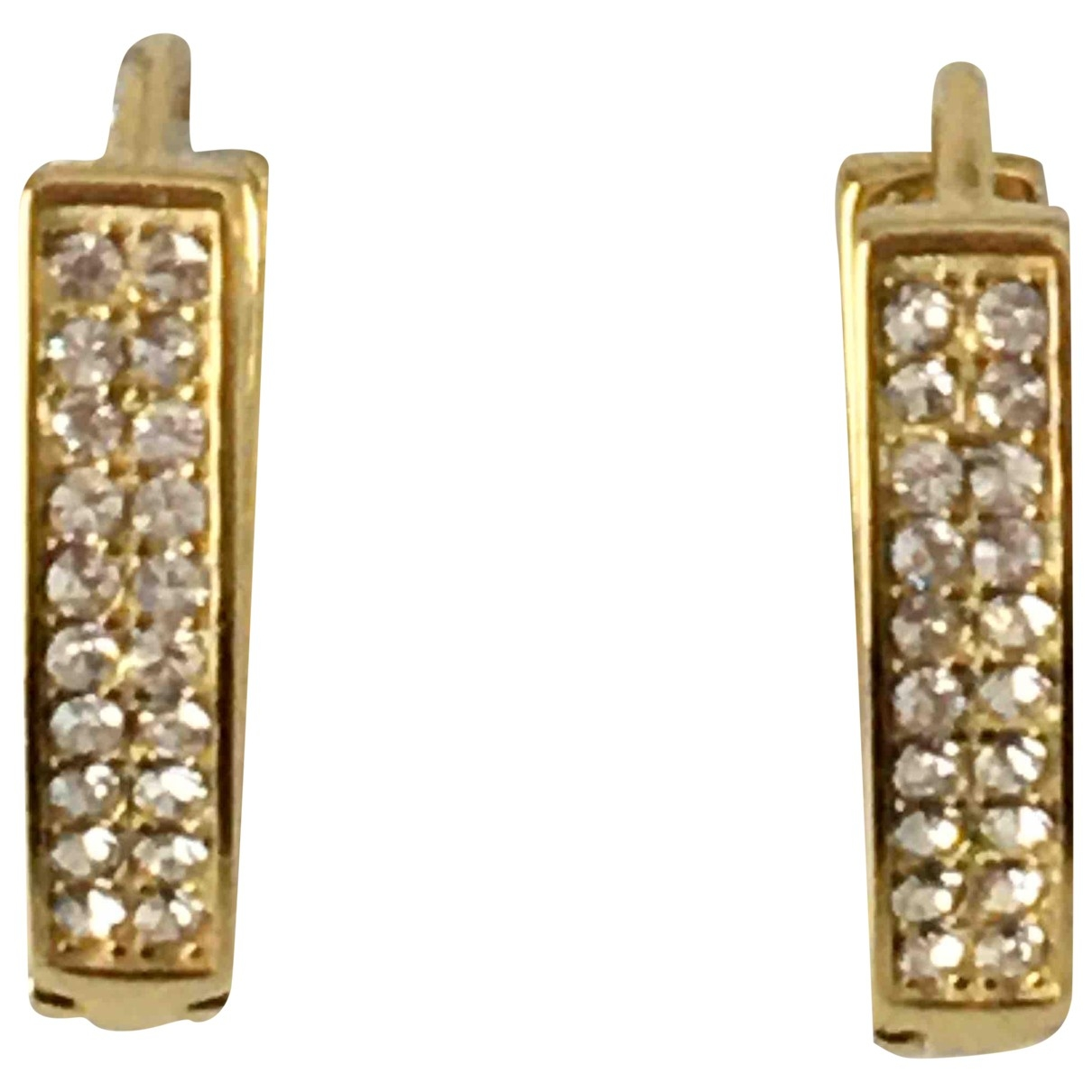 Non Signé / Unsigned Créoles Gold Silver Gilt Earrings for Women \N